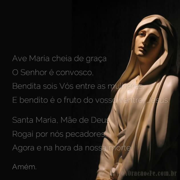 Versões da Oração Ave Maria Santa