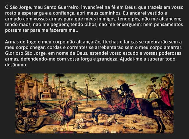 Oração original de São Jorge