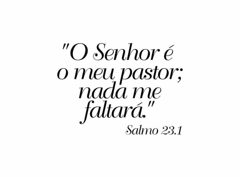 Salmo 23 Fundo Branco