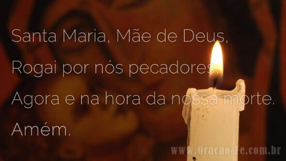 Oração Ave Maria Vela